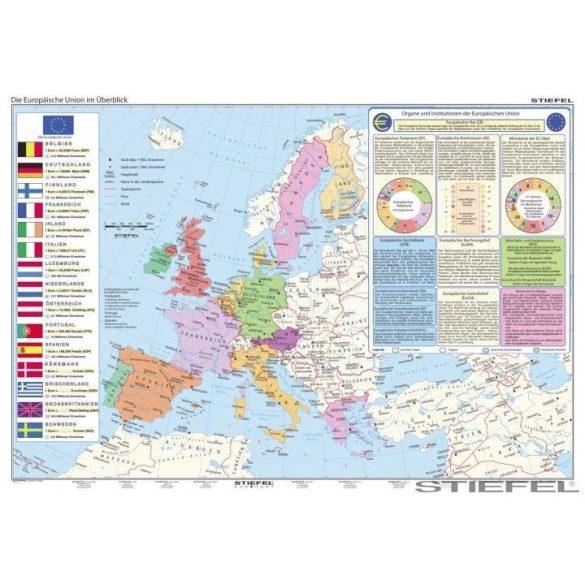 Az Európai Unió (német nyelvű) falitérkép