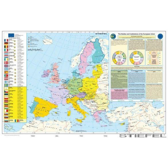 Az Európai Unió (angol nyelvű) falitérkép