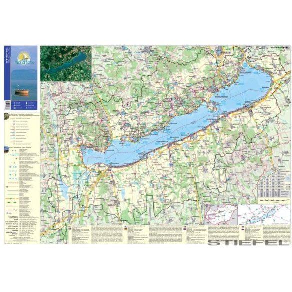 A Balaton régió térképe, falitérkép