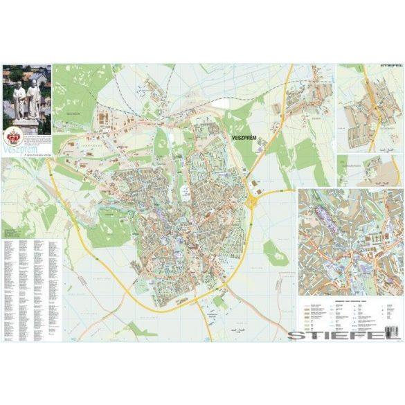 Veszprém várostérképe, falitérkép