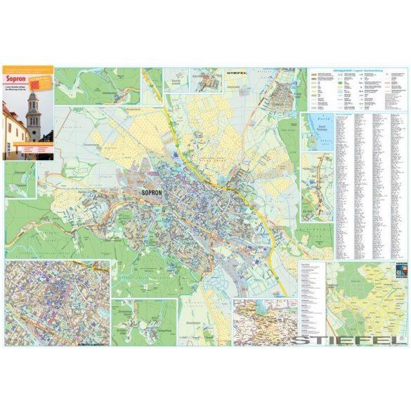 Sopron várostérképe, falitérkép