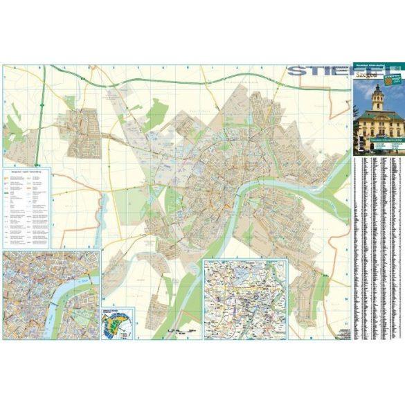 Szeged várostérképe, falitérkép