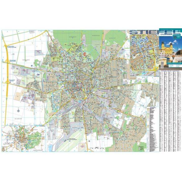 Debrecen város falitérkép