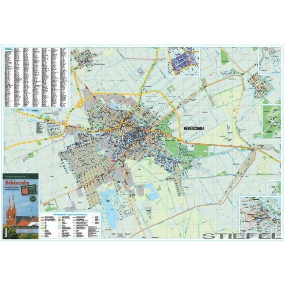 Békéscsaba térképe, falitérkép