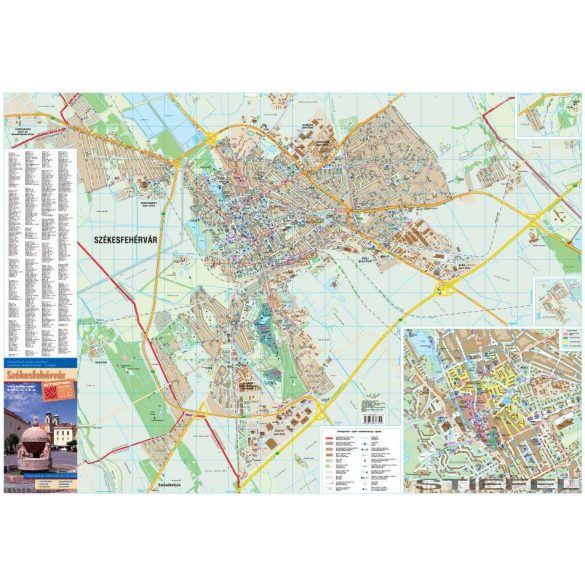 Székesfehérvár térképe, falitérkép