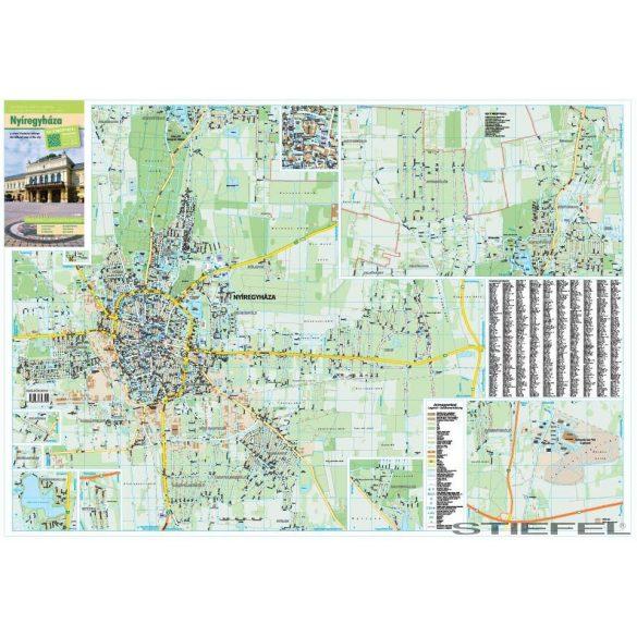 Nyíregyháza térképe, falitérkép