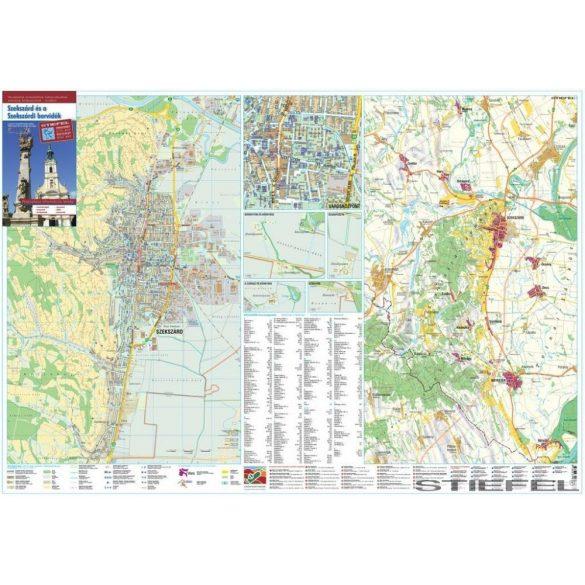 Szekszárd és Szekszárdi borvidék térképe, falitérkép