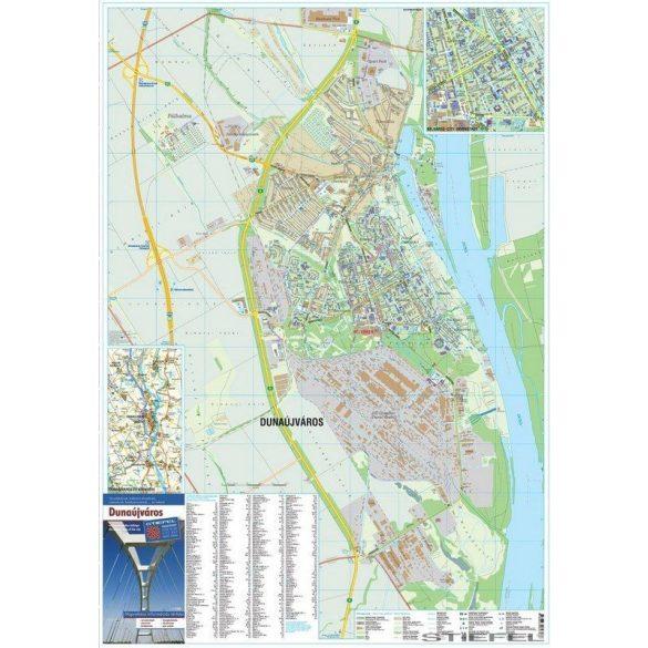 Dunaújváros térképe, falitérkép
