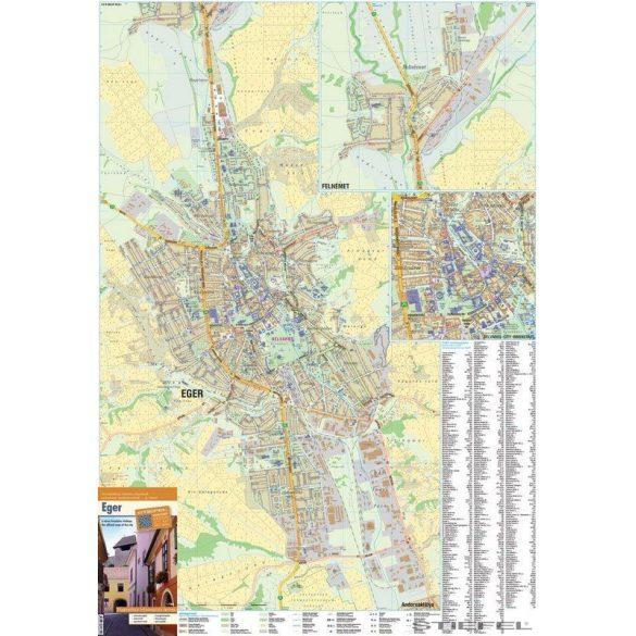 Eger térképe, falitérkép
