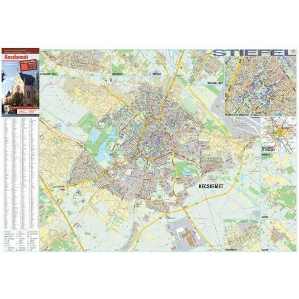 Kecskemét térképe, falitérkép