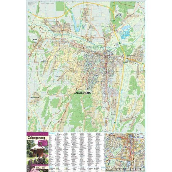 Zalaegerszeg térképe, falitérkép