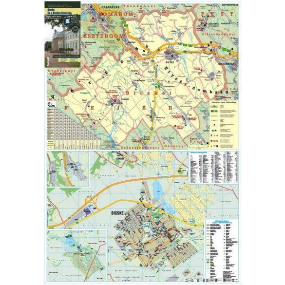 Bicske és a Bicskei kistérség térképe, falitérkép