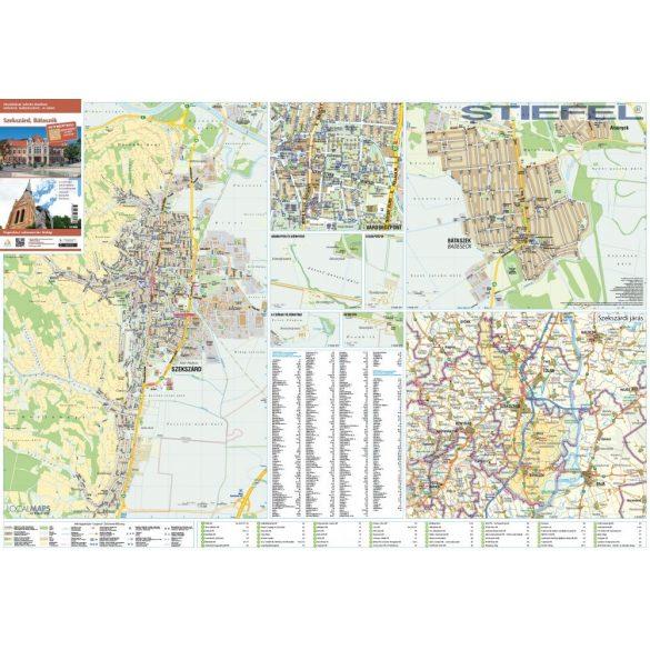 Szekszárd, Bátaszék térképe, falitérkép