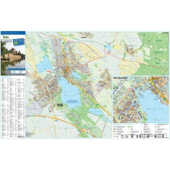 Tata várostérképe, falitérkép