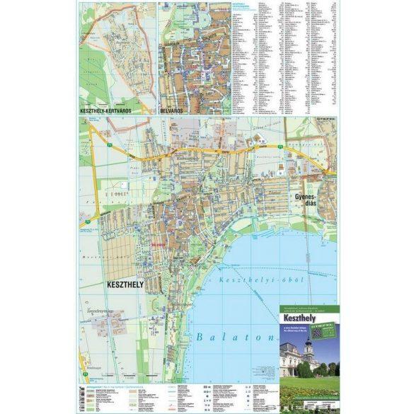 Keszthely térképe, falitérkép