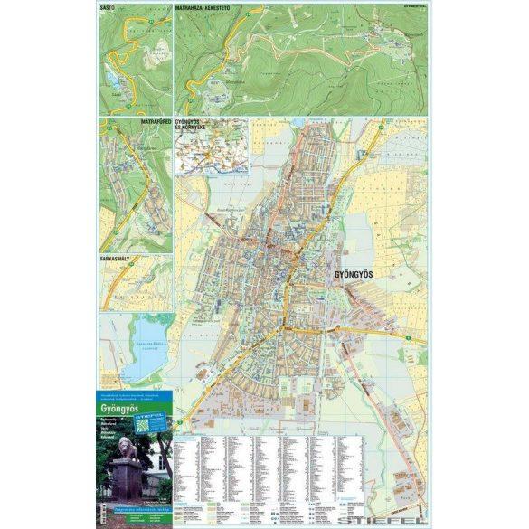 Gyöngyös térképe, falitérkép