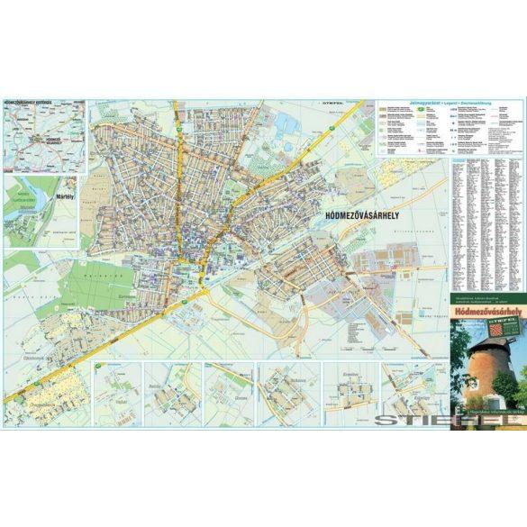 Hódmezővásárhely térképe, falitérkép