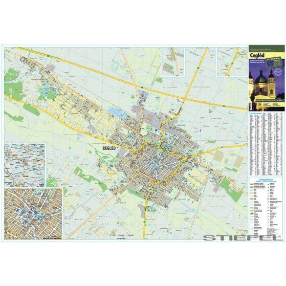 Cegléd térképe, falitérkép
