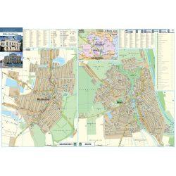 Békés-Mezőberény térképe, falitérkép