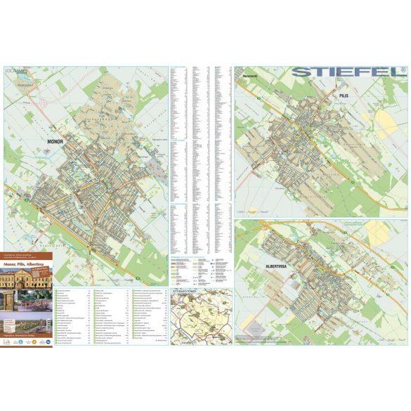 Monor, Pilis, Albertirsa térképe, falitérkép