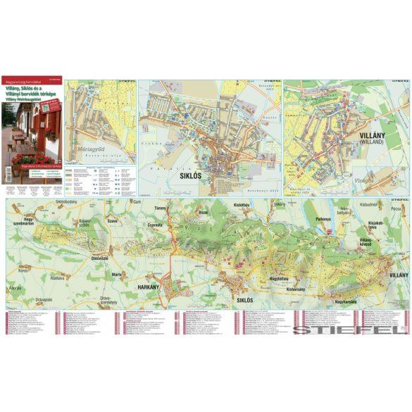 Villány, Siklós és a Villányi borvidék térképe, falitérkép