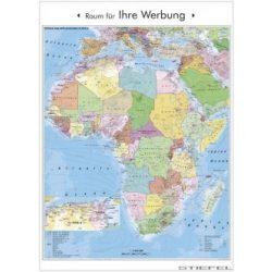 Afrika politikai és irányítószámos falitérkép
