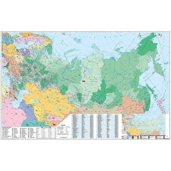 Oroszország és Kelet-Európa irányítószámos falitérkép