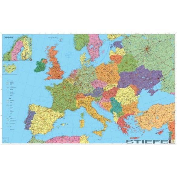 Európa autótérképe, falitérkép