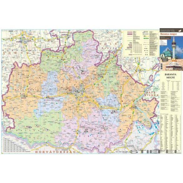 Baranya megye falitérkép
