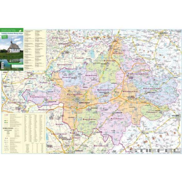 Szabolcs-Szatmár-Bereg megye falitérkép