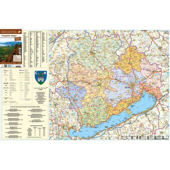 Veszprém megye falitérkép