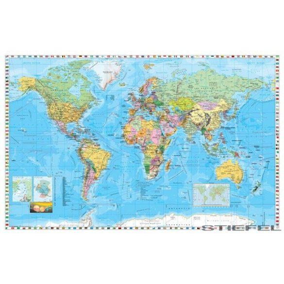 A Föld országai, zászlókkal falitérképe, falitérkép