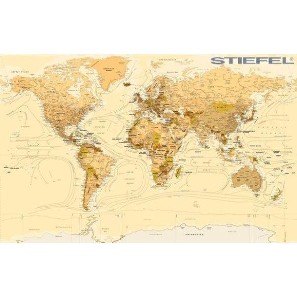 A Föld országai, antik stílusú falitérképe, falitérkép