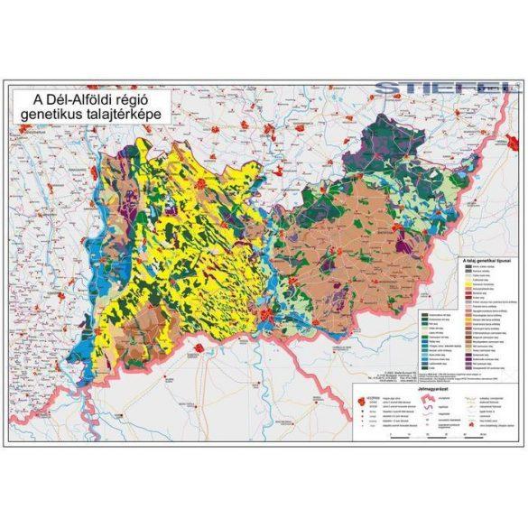 Dél-Alföldi régió genetikus talajtérképe, falitérkép