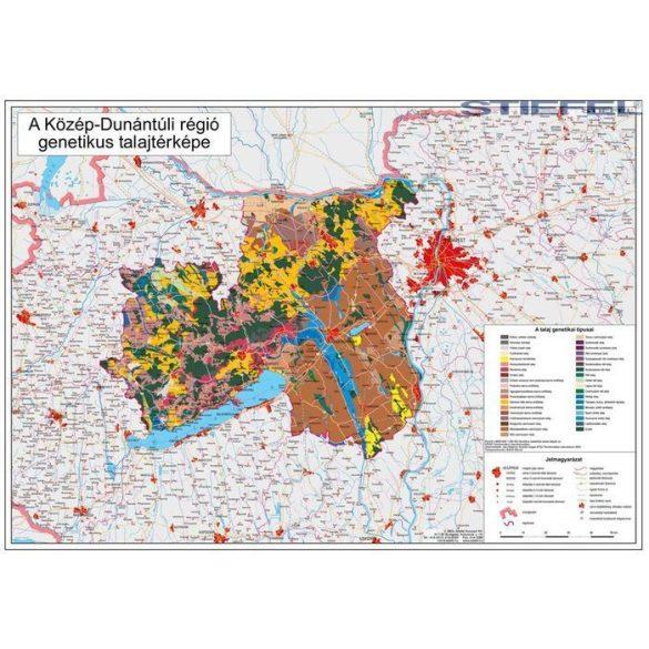 Közép-Dunántúli régió genetikus talajtérképe, falitérkép