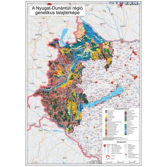 Nyugat-Dunántúli régió genetikus talajtérképe, falitérkép