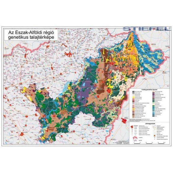 Észak-Alföldi régió genetikus talajtérképe, falitérkép