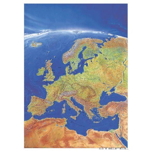 Európa panoráma térképe, falitérkép