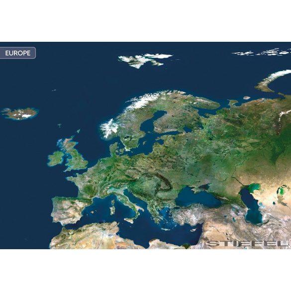 Európa a világűrből falitérkép