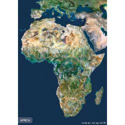 Afrika a világűrből falitérkép