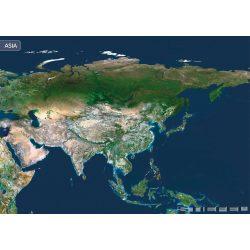 Ázsia a világűrből falitérkép