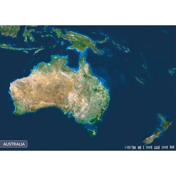 Ausztrália a világűrből falitérkép