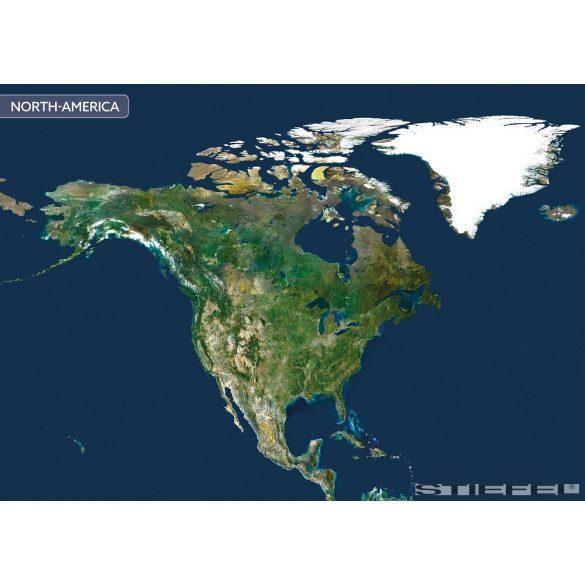 Észak-Amerika a világűrből falitérkép