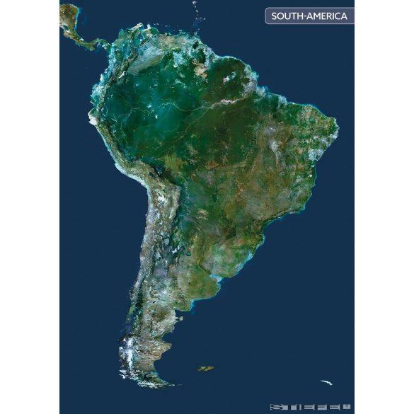 Dél-Amerika a világűrből falitérkép