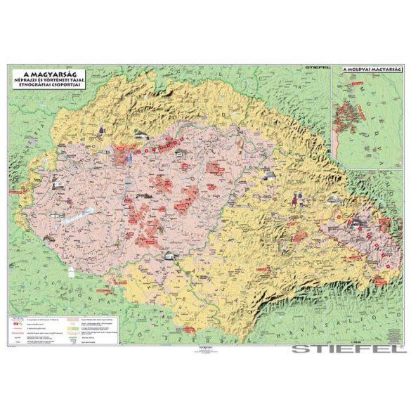 Magyar néprajzi térképe, falitérkép