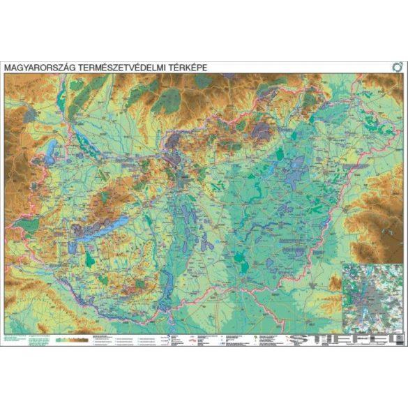 Magyarország természetvédelmi térképe, falitérkép
