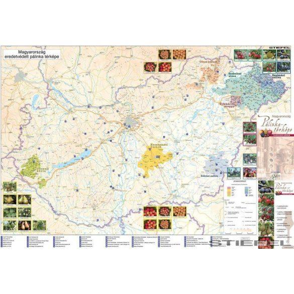 Magyarország pálinkafalitérkép, falitérkép