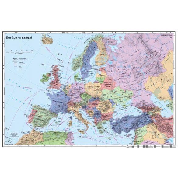 Európa országai térképe, falitérkép