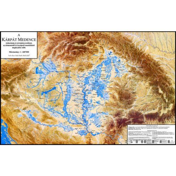 A Kárpát medence vízborította és árvízjárta területeinek falitérkép