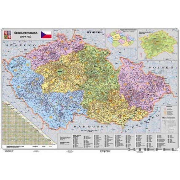 Csehország irányítószámos falitérkép